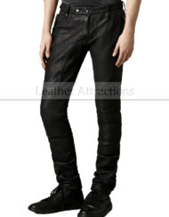 Mens-Designers-Moto-Style-Leather-Pants-front
