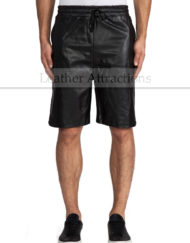 Mens-Leather-Track-Shorts-front