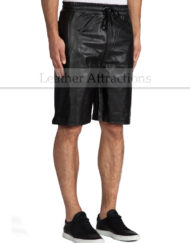 Mens-Leather-Track-Shorts-front-2
