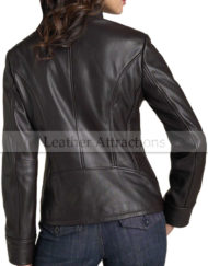 Metropolis-Ladies-Zipper-Leather-Jacket-Back