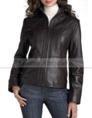 Metropolis-Ladies-Zipper-Leather-Jacket-Front