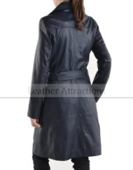 Mid-Night-Blue-Double-Brace-Women-Leather-Trench-Back