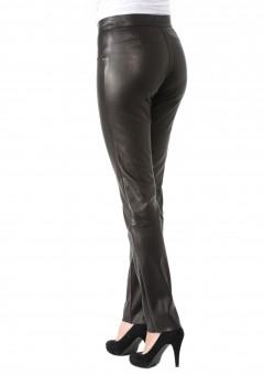 Milan Ladies Leather Pants Back Left
