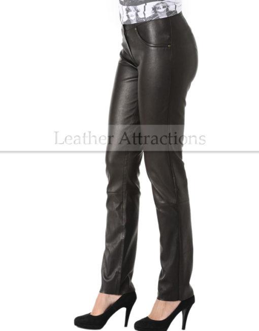 Milan-Ladies-Leather-Pants-Back-Side