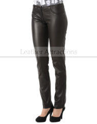 Milan-Ladies-Leather-Pants-Front