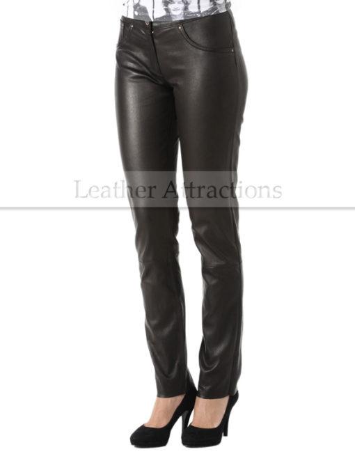 Milan-Ladies-Leather-Pants-Front
