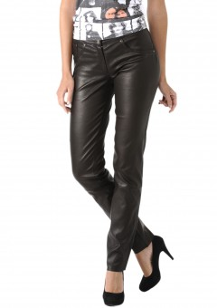 Milan Ladies Leather Pants Front Right