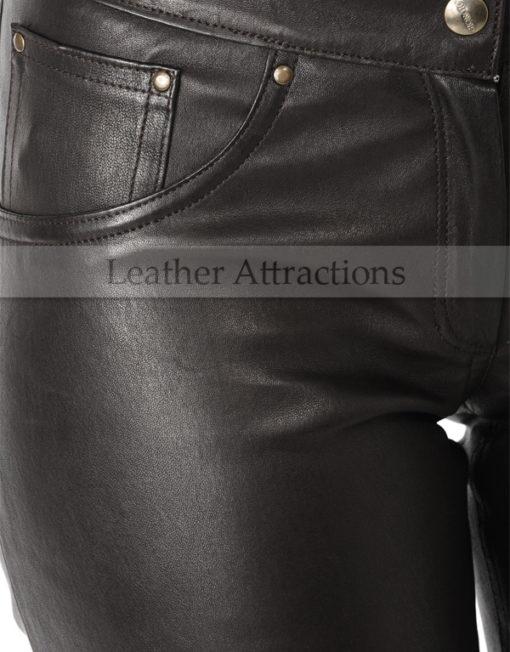 Milan-Ladies-Leather-Pants-Side-Pocket