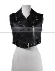 Motocycle-Corpped-Women-Leather-Vest-Large