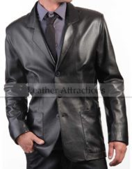 Quality leather blazer