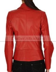 Perfecto-Women-Red-Lambskin-Leather-Biker-Blazer-Back