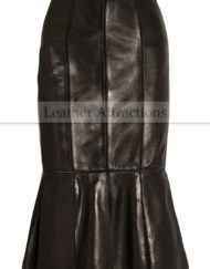 Pletted-leather-flayered-skirt-Main-Front