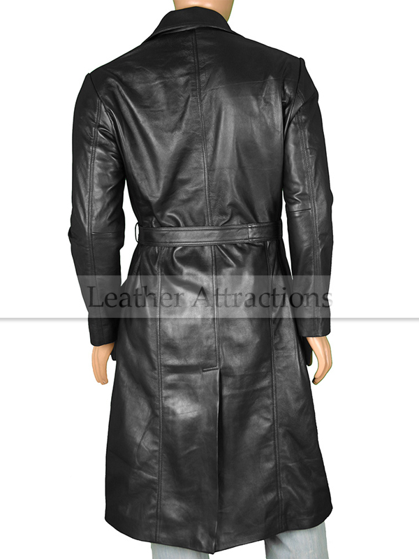 Utterly Women Long Leather coat
