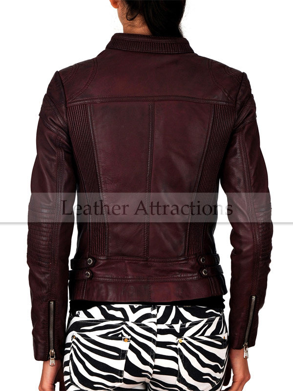 Women Pretty Cool Smart Leather Jacket