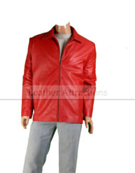 Red-Impact-Leather-JAcket-Front-Close