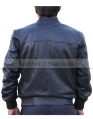 Ribbed-Collar-Leather-Bomber-Jacket-Backside