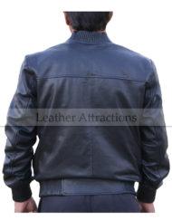 Ribbed-Collar-Leather-Bomber-Jacket-Backside