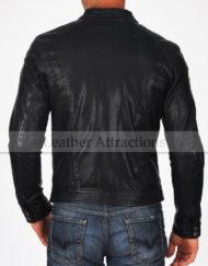 Riders-Black-Leather-Jacket-Back