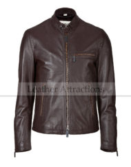 Road-master-Soft-brown-italian-leather-jacket-Front-Close