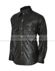 Round-Bottom-Leather-Shirt-Front-close