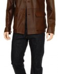 Safari Style Soft Leather Shirt