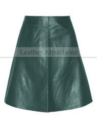 Sea-Green-Leather-Skirt-Main-Front
