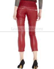 Sicily-Women-Caprice-Red-leather-Pants-Back