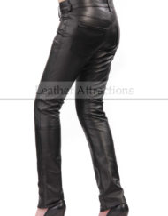 Slim-Fit-Leather-Pants-Side