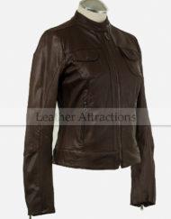 Slim-fit-Brown-ladies-jacket