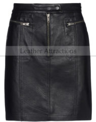 Stylo-length-Leather-skirt