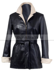 Two-Tone-Soft-Women-Leather-Coat-Black-White