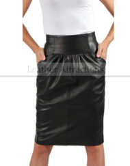 Urban-Medium-leather-Skirt-Front