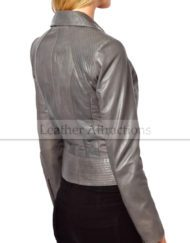Viscouse-vogue-Women-Grey-Biker-jacket-Side