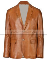 men's leather blazer