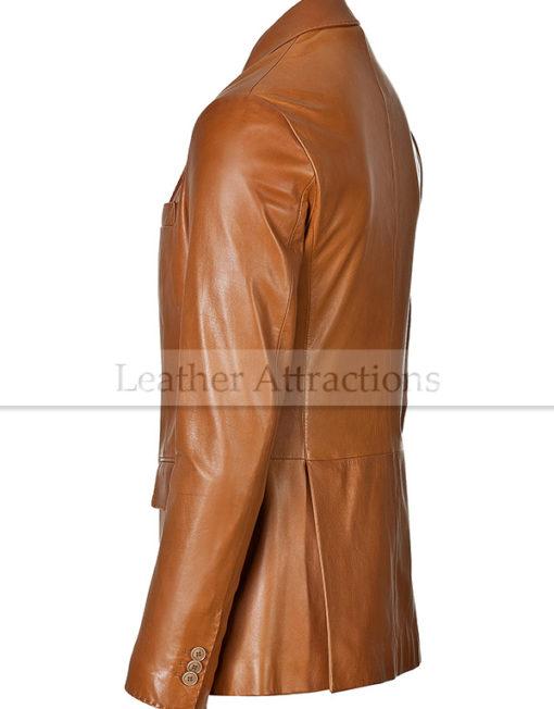 Vogue-smart-Leather-Blazer