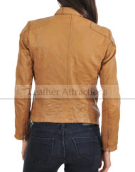 Women-Attraction-Quilted-leather-Jacket-Back