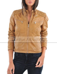 Women-Attraction-Quilted-leather-Jacket-Front