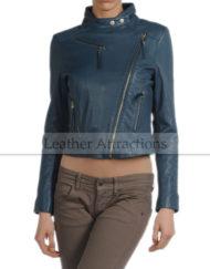 Women-Briker-Torquise-Leather-Jacket-Front