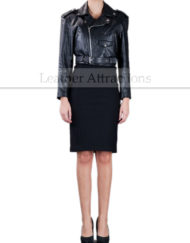 Women-Mini-Leather-Jacket-standing-Front-small