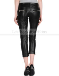 Women-Motorcycle-Caprice-Black-Leather-Pants-Back