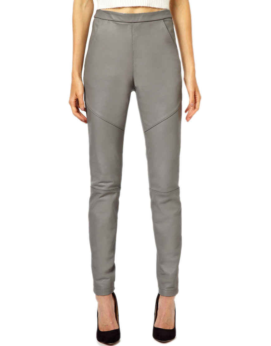 Women-Stright-fit-Gray-Leather-Pants-Front.jpg