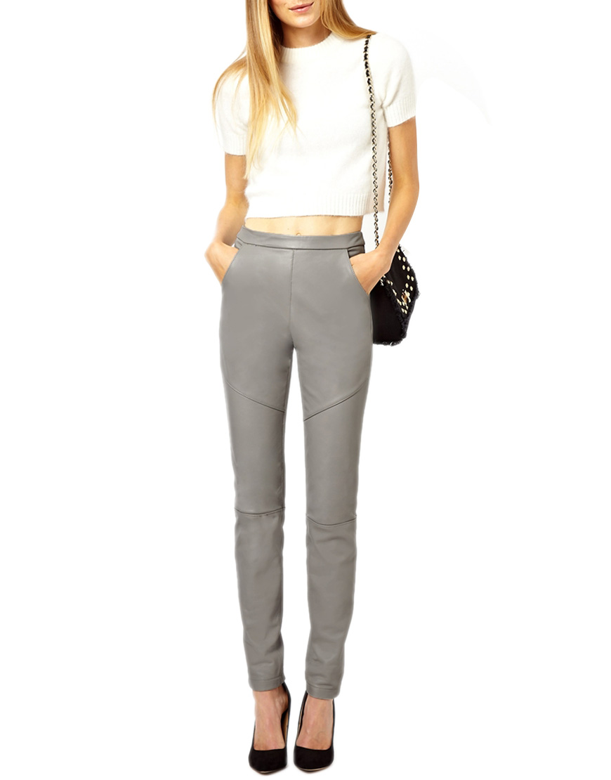 Women-Stright-fit-Gray-Leather-Pants-small-front.jpg