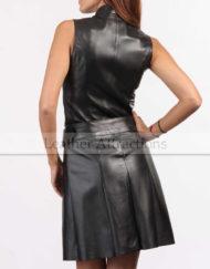 Women-Zipper-Leather-Dress-Back