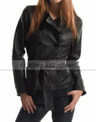 Womens-Short-Double-Brace-Belted-jacket