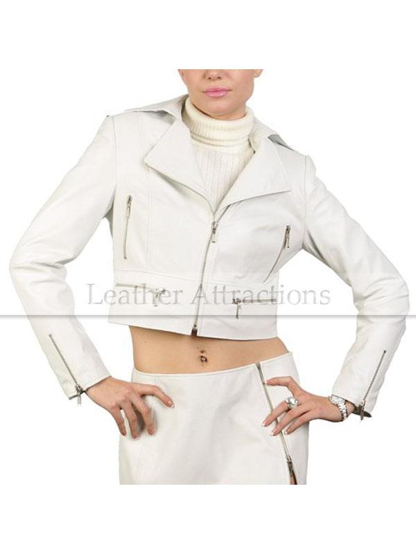 0e2631c6b Zipper Short Biker Leather Jacket