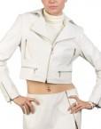 Zipper Short Biker Leather Jacket